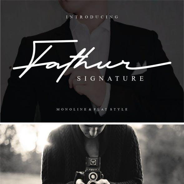 Fathur - Luxury & Elegant Signature Font