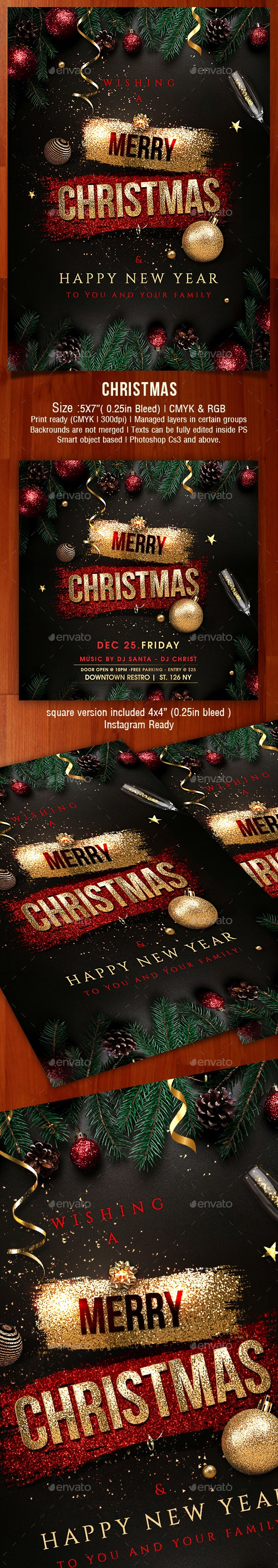 Christmas Cards Invitations - Cards & Invites Print Templates