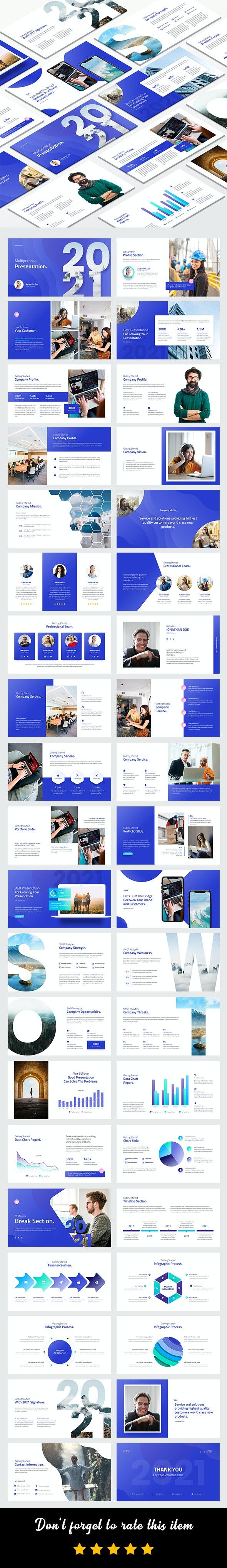 2021 Creative Multipurpose Google Slides Template - Google Slides Presentation Templates
