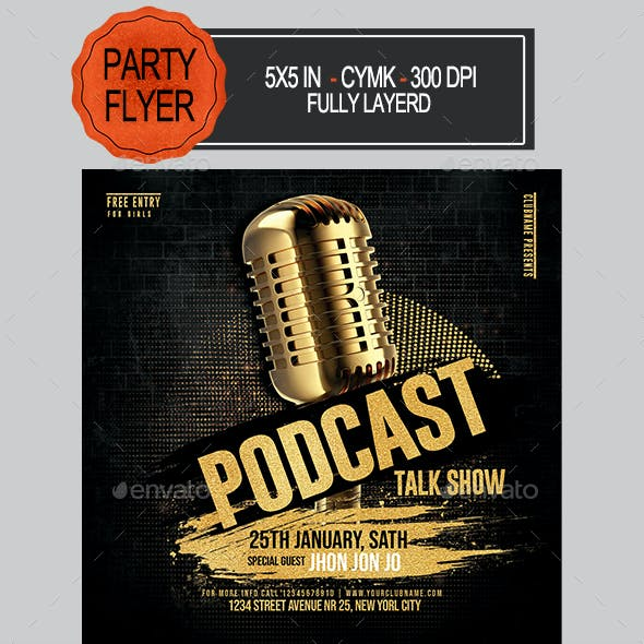 Talk Show Podcast Flyer
