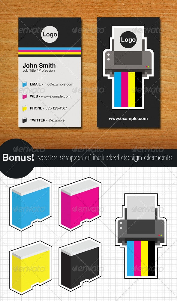 Printer Business Card and Vectors - Industry Specific Business Cards