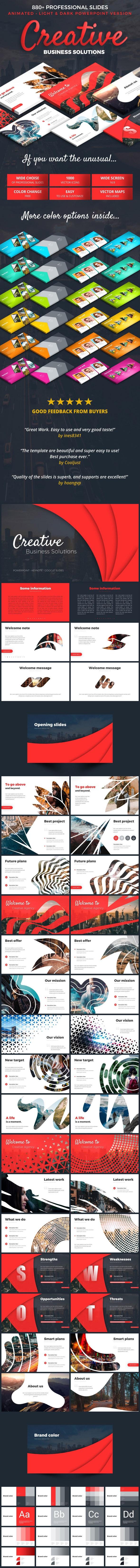 Creative Business Plan - Pitch Deck PowerPoint Templates