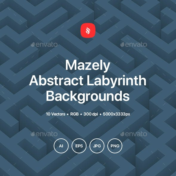 Mazely - Abstract Labyrinth Background Set