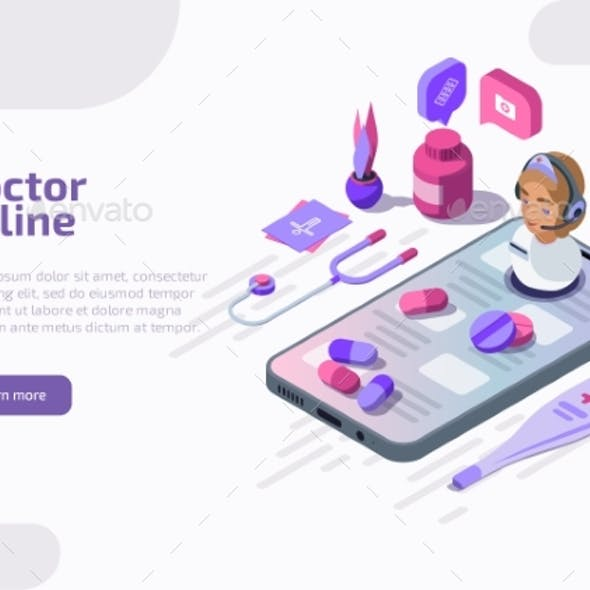 Isometric Online Doctor Gives Medical Consultation