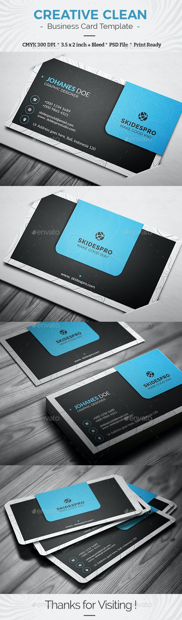 Creative Clean - Business Cards Print Templates