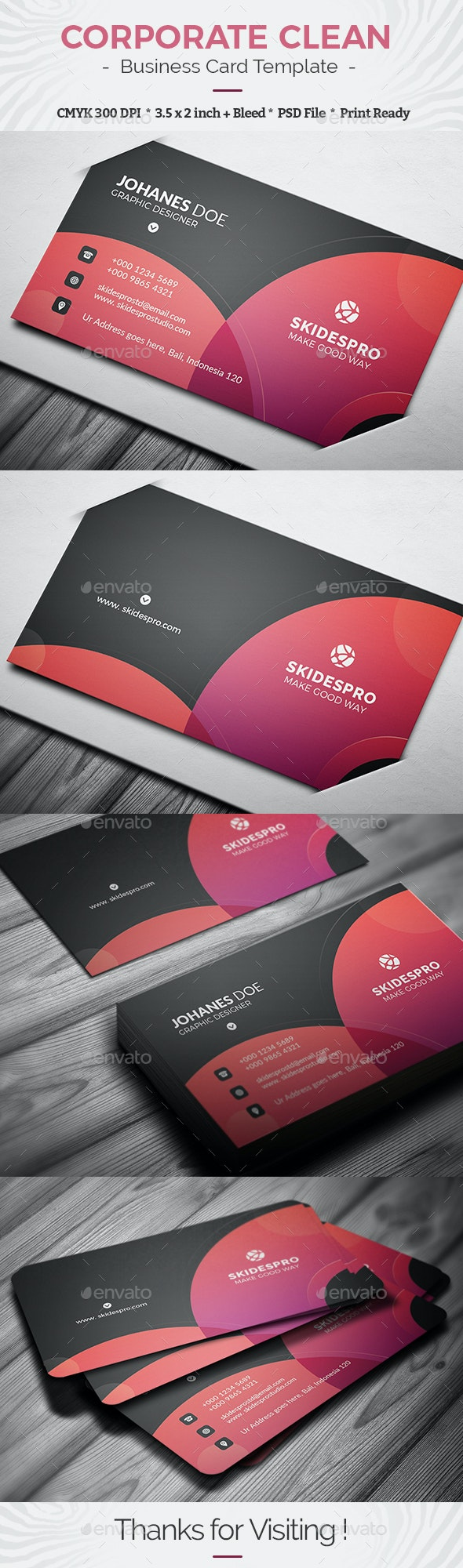 Corporate Clean - Business Cards Print Templates