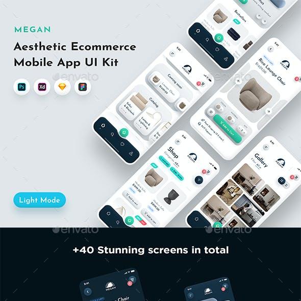 Megan - Aesthetic Ecommerce Mobile App UI Kit