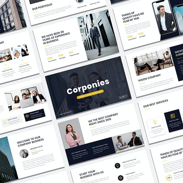Corponies - Corporate Business Google Slide Presentation Template