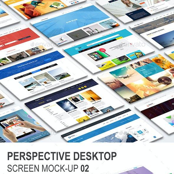 Perspective Desktop Website Mock-Up 02