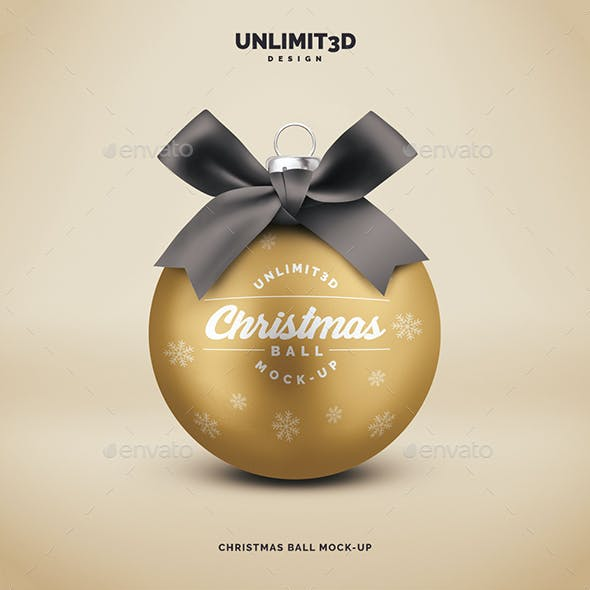 Christmas Ball Mock-up