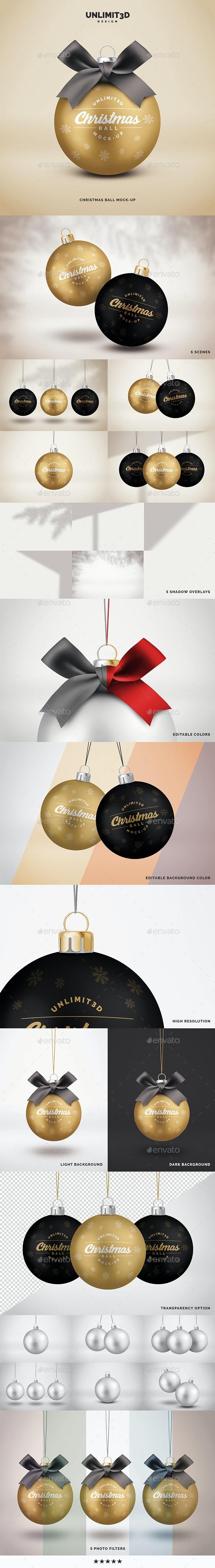 Christmas Ball Mock-up - Miscellaneous Product Mock-Ups