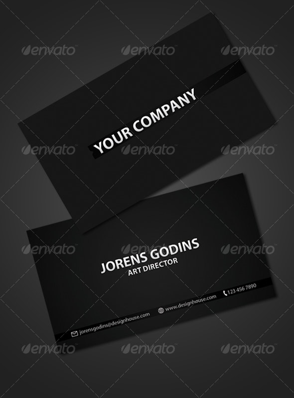 Two Sided modern business card - Business Cards Print Templates