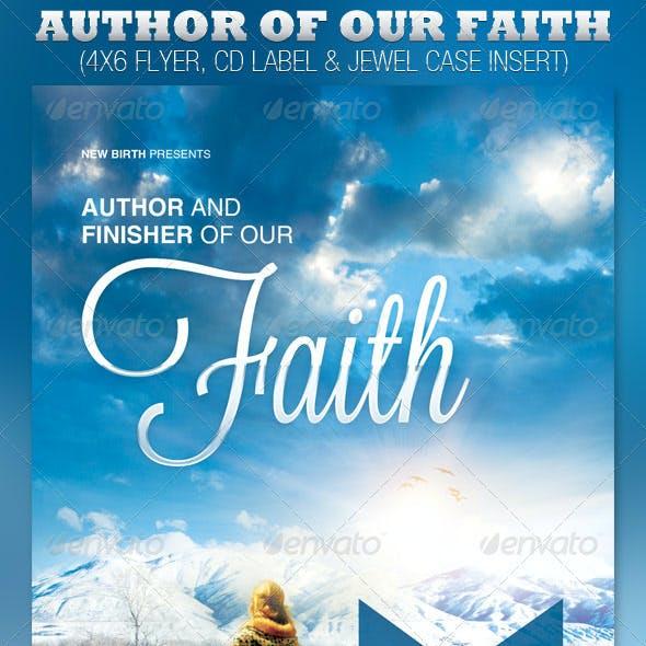 Author of Our Faith Church Flyer and CD Template