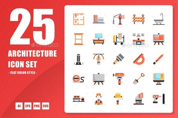 Architecture Flat Icon - Buildings Objects