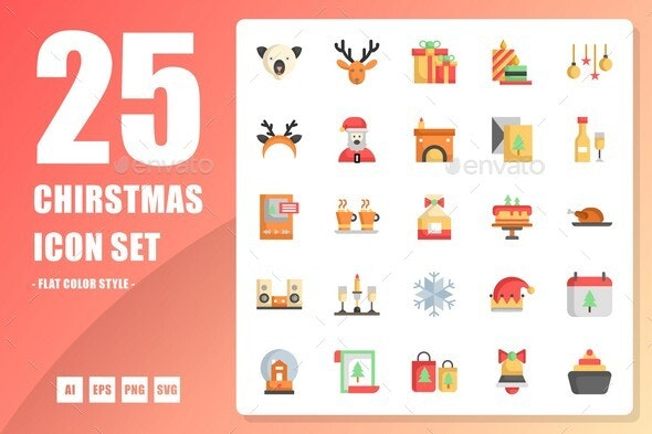 Christmas Flat Icon - Seasonal Icons