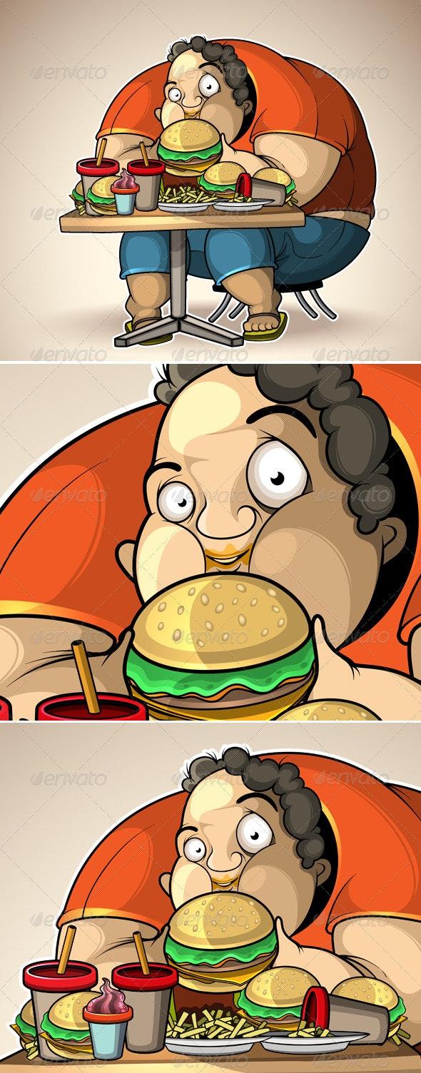 Heavy eater - Characters Vectors