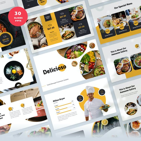 Food & Beverages PowerPoint Template