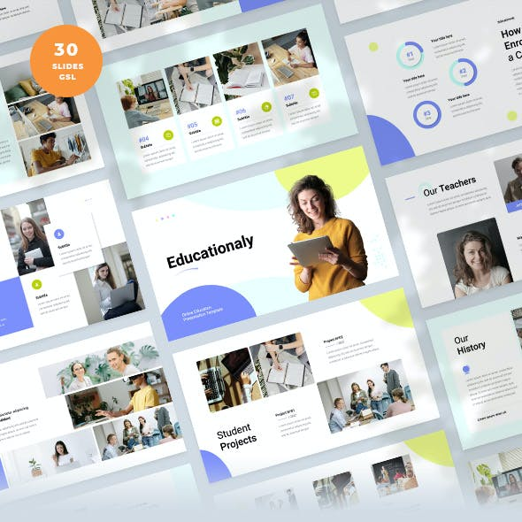 Educationaly - Online Education Google Slides Template