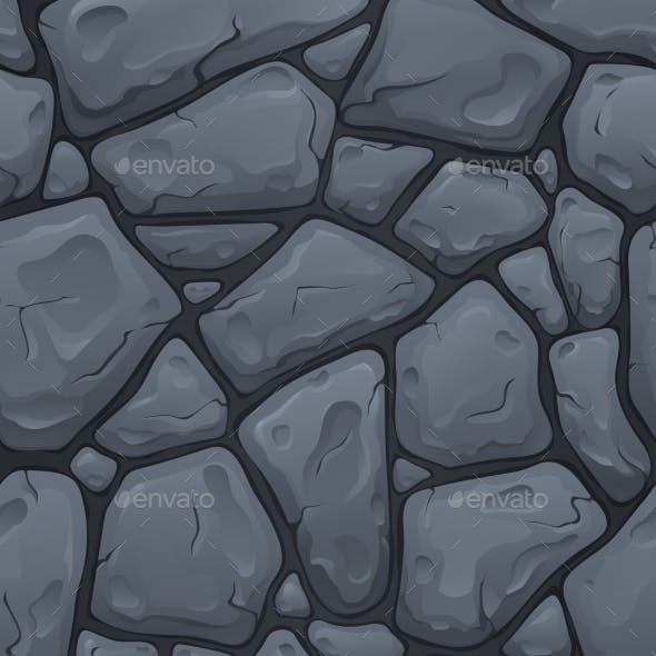 Seamless Texture for Game Development Stone Road