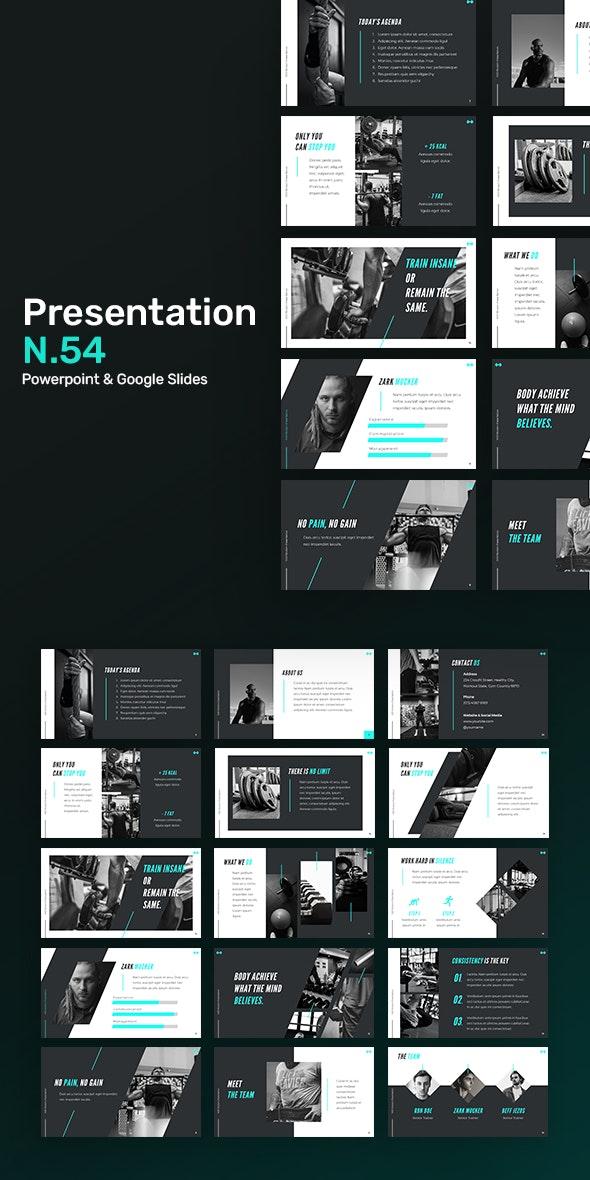 Presentation N54 - Creative PowerPoint Templates