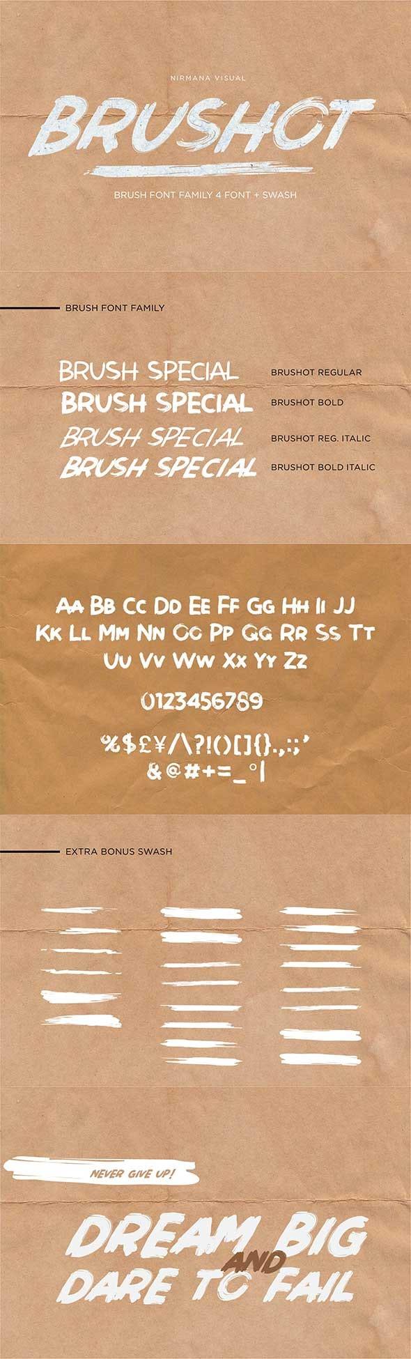 Brushot - Sans-Serif Fonts