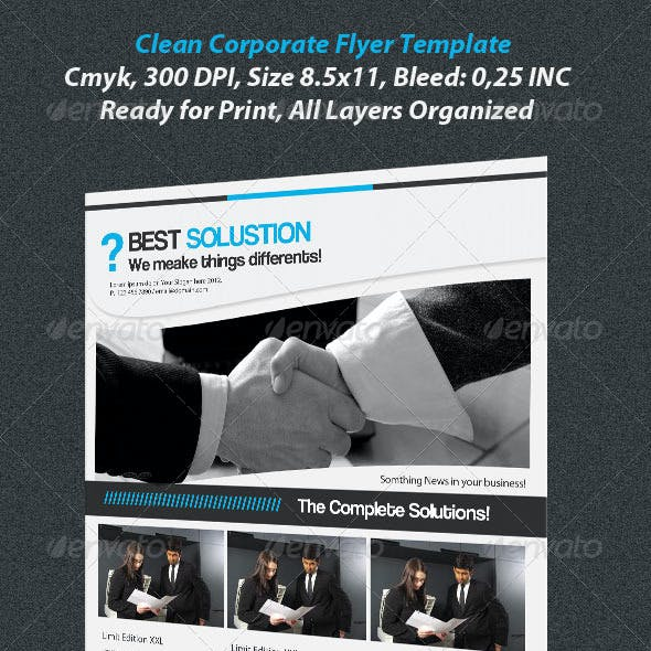 Clean Corporate Flayer Template