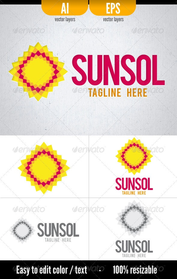 Sunsol - Vector Abstract