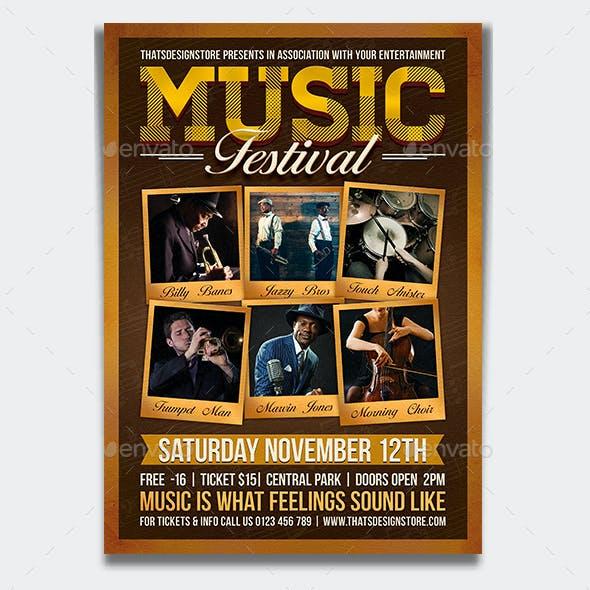 Music Festival Flyer Template V7