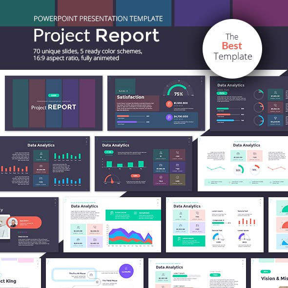 Project Report PowerPoint Presentation Template