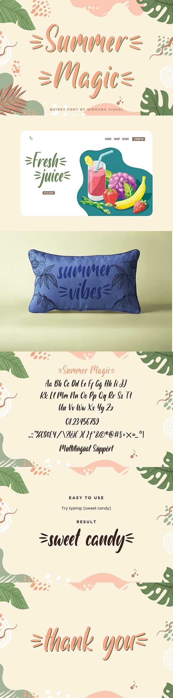 Summer Magic - Handwriting Fonts