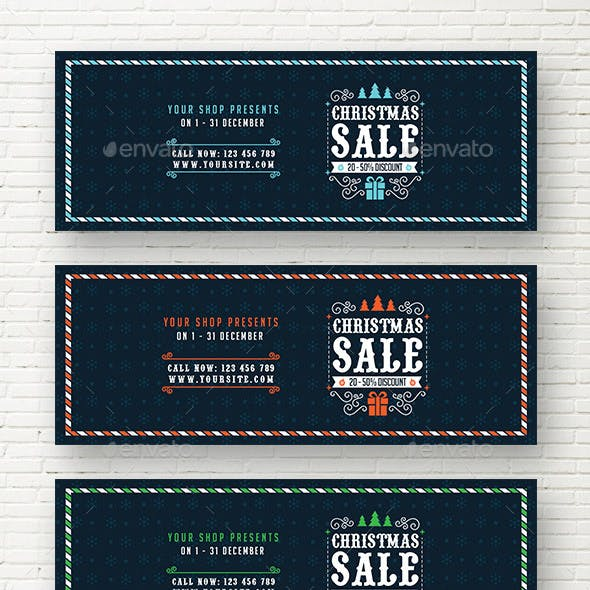 Christmas Sale Web Sliders