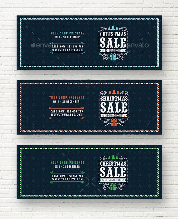 Christmas Sale Web Sliders - Sliders & Features Web Elements