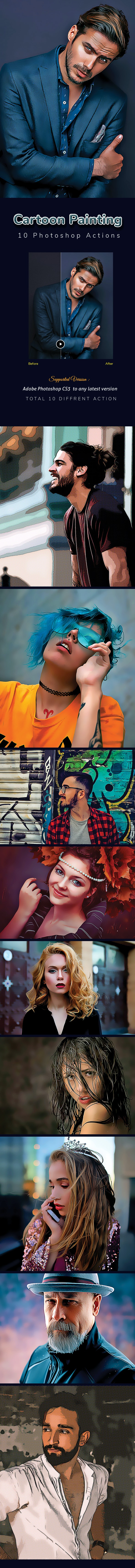 10 Oil Painting Photoshop Effects - Photo Effects Actions