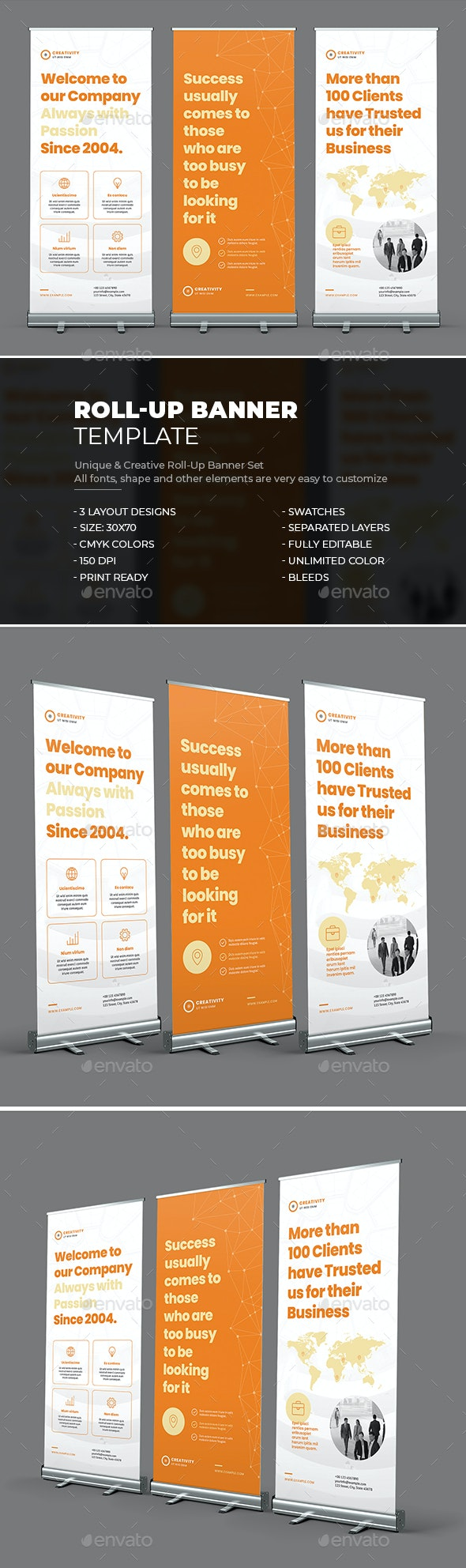 Roll-Up Banner - Signage Print Templates