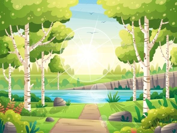 Sunny Spring Landscape - Flowers & Plants Nature