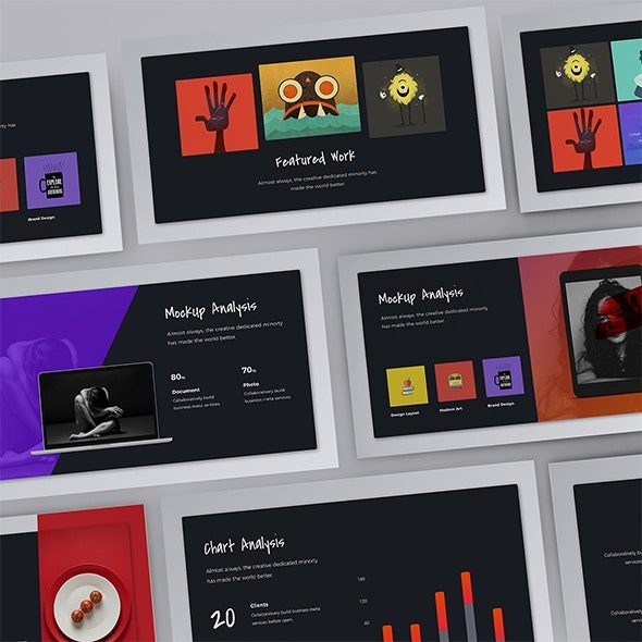 Firebird - Fully Animated Creative Presentation Template (KEY) - Creative Keynote Templates