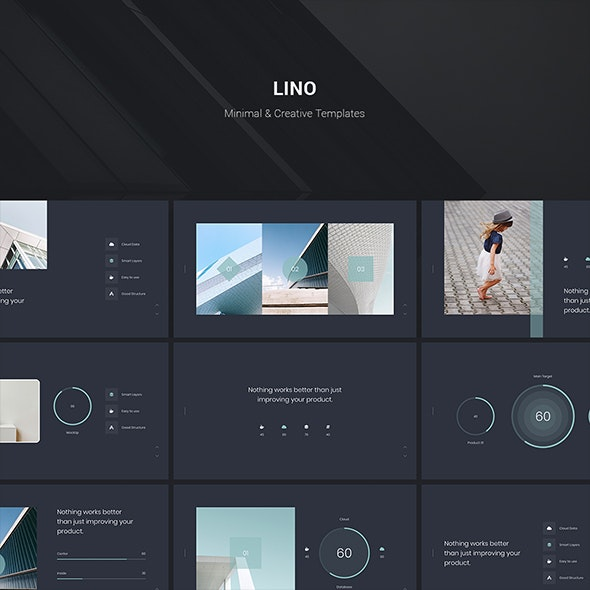 LINO - Fully Animated & Minimal Template (KEY) - Creative Keynote Templates