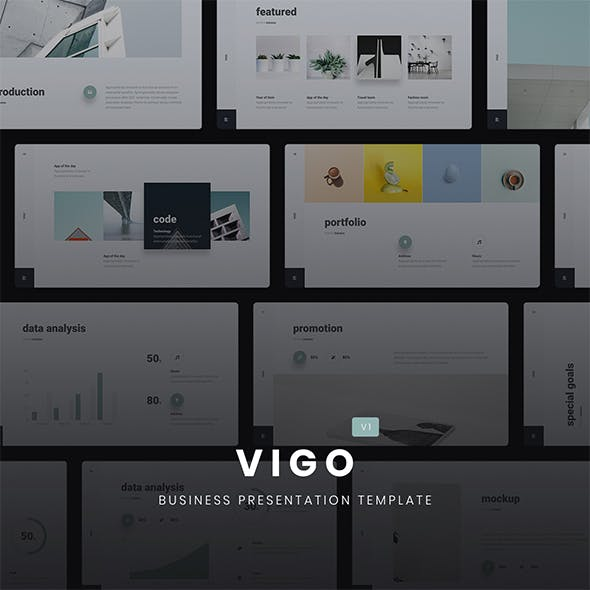 VIGO - Minimal Presentation Template (KEY)