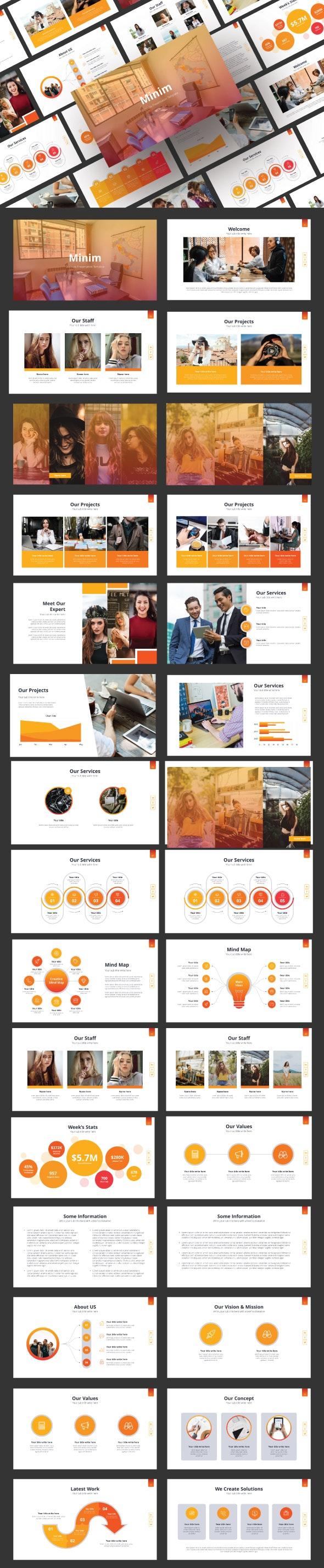 Minim - Google Slide Template - Google Slides Presentation Templates