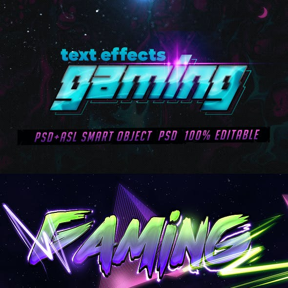 Gaming Text Effects - Psd & Layer Styles