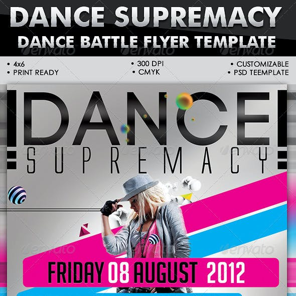 Dance Supremacy/Dance Battle Flyer Template