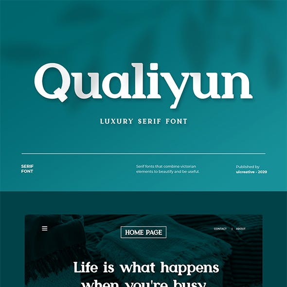 Qualiyun Display Serif Font