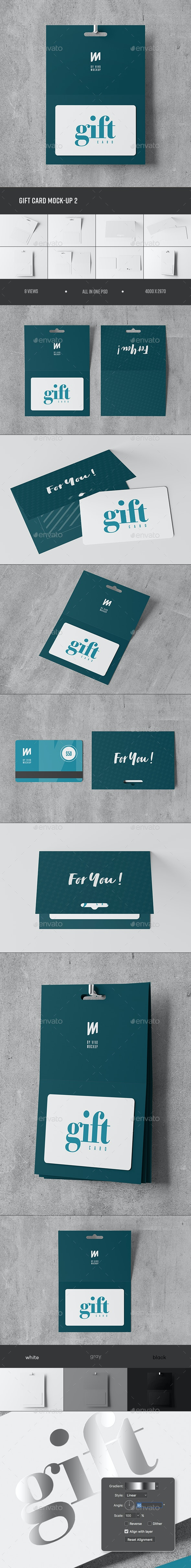 Gift Card Mock-up 2 - Business Cards Print