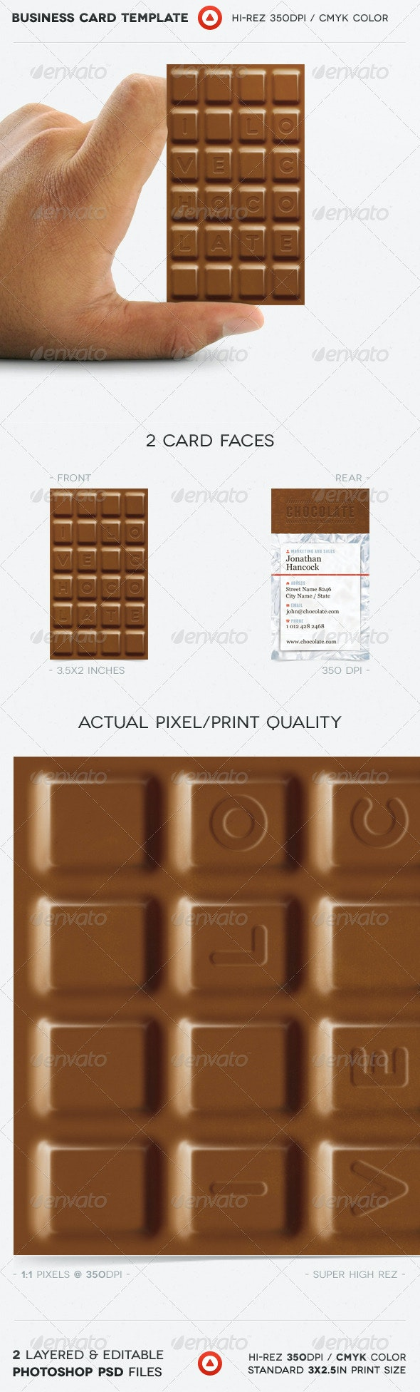 Chocolate Business Card - Real Objects Business Cards