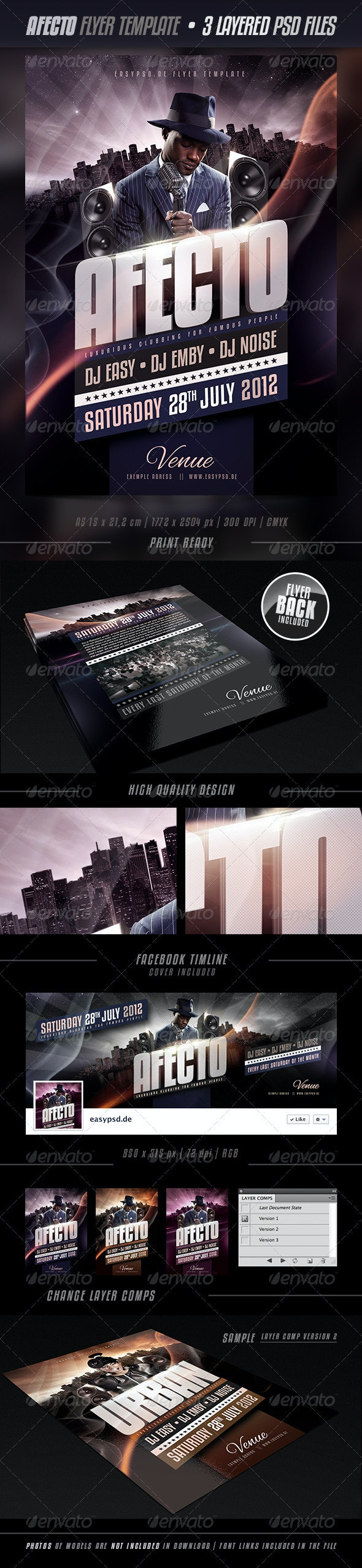Afecto Flyer Template  - Clubs & Parties Events
