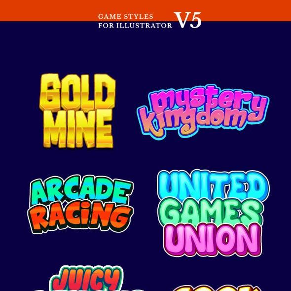Game Styles for Illustrator V5