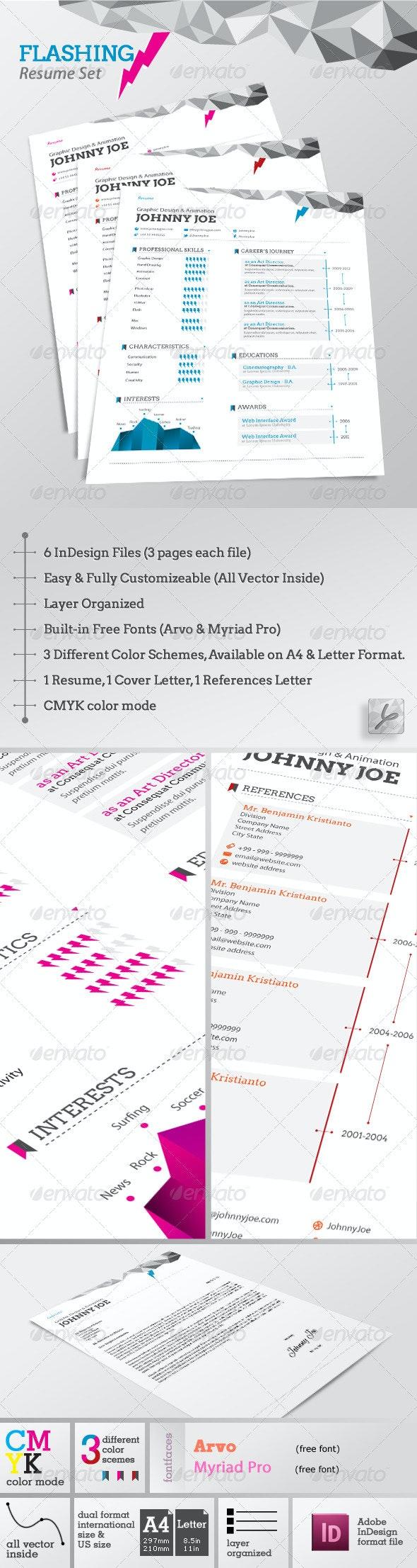 Flashing Resume Set - Resumes Stationery