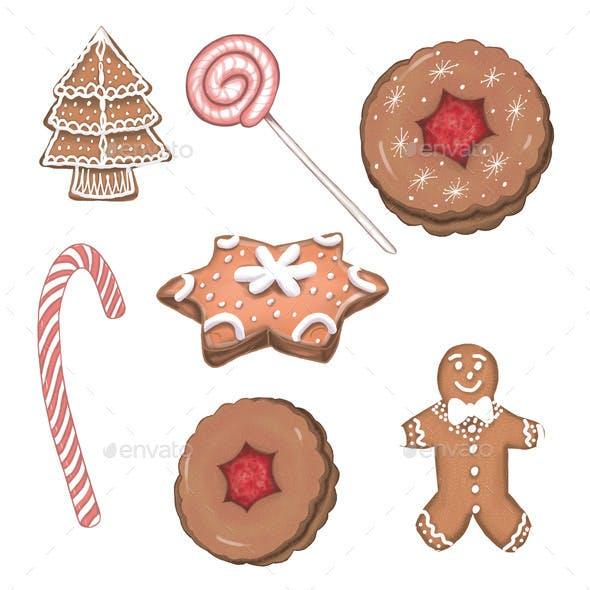 Christmas Gingerbread Cookies Xmas Sweets