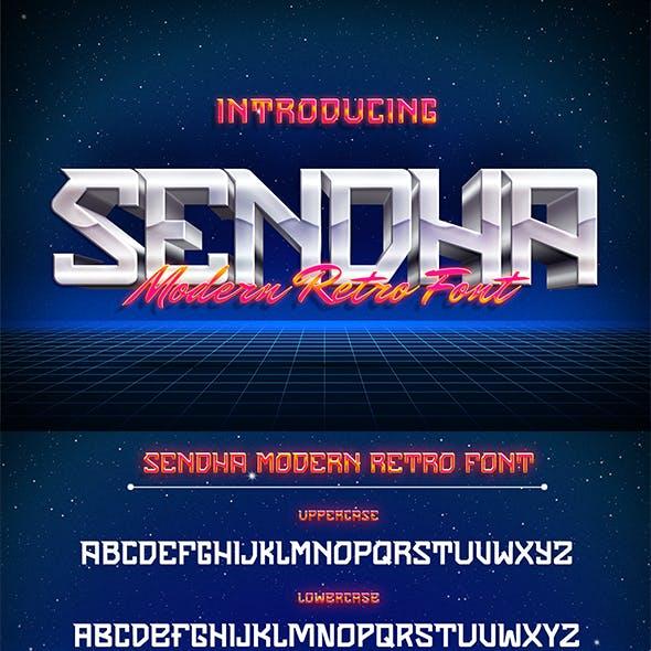 Sendha – Techno Display Font