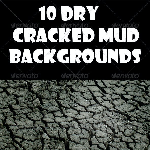 10 Dry Cracked Mud Backgrounds